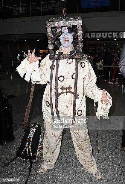 Comic Con attendee poses during the 2014 New York Comic Con at Jacob Javitz Center on October 11 2014 in New York City