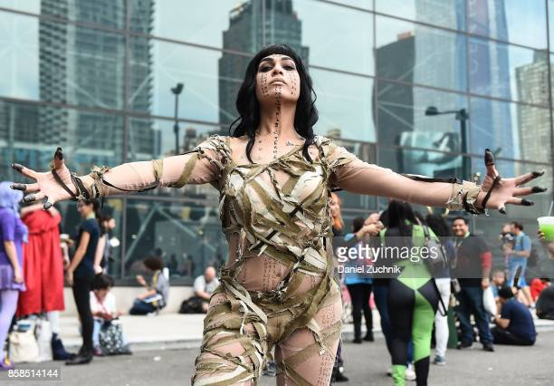 Comic Con cosplayer dressed as the Mummy poses during the 2017 New York Comic Con Day 2 on October 6 2017 in New York City
