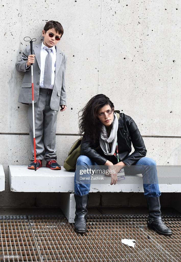 Comic Con cosplayers dressed as Matthew Murdock and Jessica Jones pose during 2017 New York Comic Con - Day 1 on October 5, 2017 in New York City.