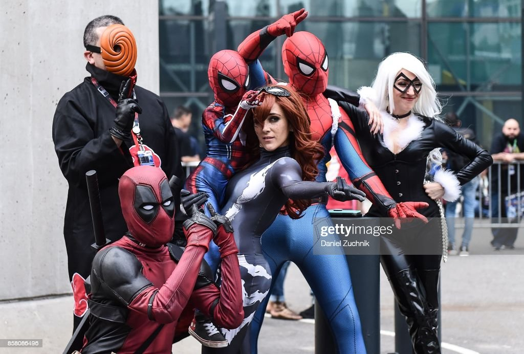 Comic Con cosplayers pose during 2017 New York Comic Con - Day 1 on October 5, 2017 in New York City.