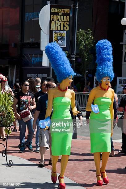 Comic Con Internacional de San Diego Marge Simpson caracteres