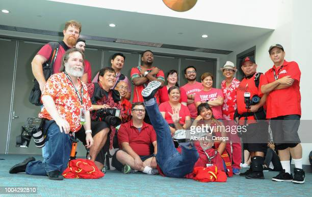Comic Con Volunteer Photographers on Sunday day 4 of 2018 ComicCon International held at the San Diego Convention Center on July 22 2018 in San Diego...