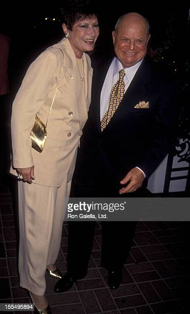 Comic Don Rickles and wife Barbara Sklar attend 17th Anniversary Party for Frank Sinatra and Barbara Sinatra on July 10 1993 at Chasen's Restaurant...