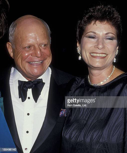 Comic Don Rickles and wife Barbara Sklar attend Actor's Fund Benefit Gala on September 12 1987 at the Beverly Hills Hotel in Beverly Hills California