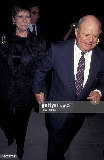 Comic Don Rickles and wife Barbara Sklar attend Larry KingShaun Southwick Wedding Reception on November 1 1997 at Spago Restaurant in West Hollywood...