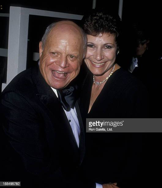 Comic Don Rickles and wife Barbara Sklar attend Swifty Lazar Oscar Party on April 11 1988 at Spago Restaurant in West Hollywood California