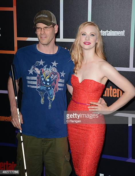 Comic EJ Scott and actress Deborah Ann Woll attend Entertainment Weekly's annual ComicCon celebration at Float at Hard Rock Hotel San Diego on July...