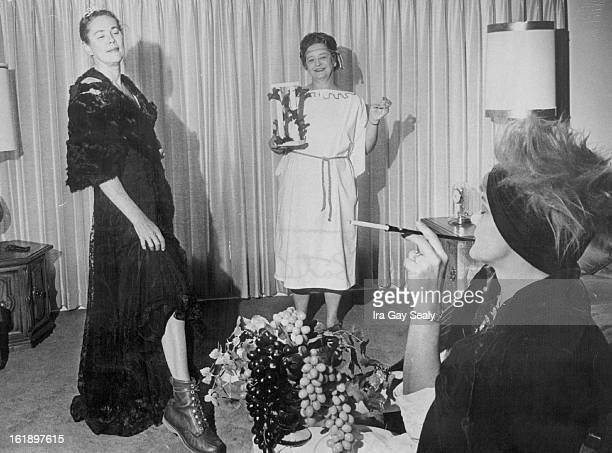 JAN 20 1968 JAN 31 1968 Comic Fashion show will precede the GanoDowns Fashion Presentation Practicing for the event are from left Mrs Pat Cleaveland...