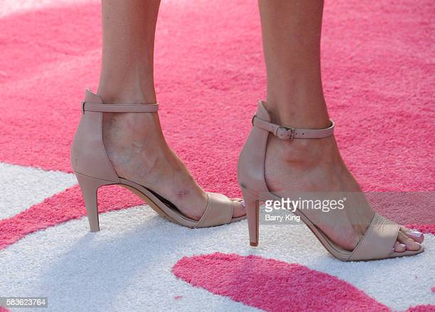 Comic Heather McDonald, shoe detail, attends the premiere of STX Entertainment's' 'Bad Moms' at Mann Village Theatre on July 26, 2016 in Westwood,...