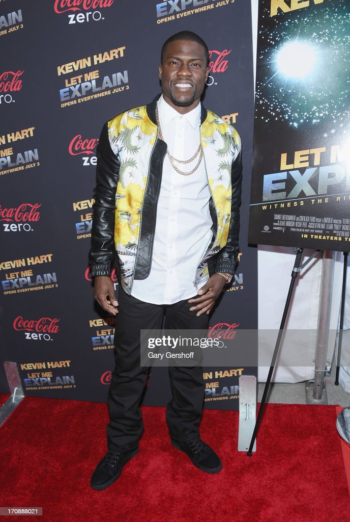 Comic Kevin Hart attends 'Kevin Hart:Let Me Explain' New York Premiere at Regal Cinemas Union Square on June 19, 2013 in New York City.