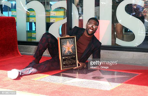 Comic Kevin Hart is honored with a star on the Hollywood Walk of Fame held on October 10 2016 in Hollywood California