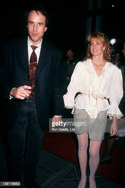 Comic Kevin Nealon and wife Linda Dupree attending 'Grand Opening of Planet Hollywood' on October 22 1991 in New York City New York