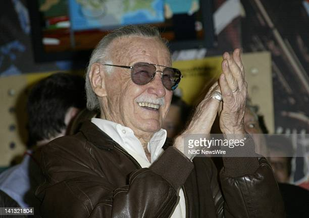 NBC NEWS Comic Legend Awards Pictured Comic creator Stan Lee receives the First Ever New York Comic Legend Award at the Virgin Mega Music store in...