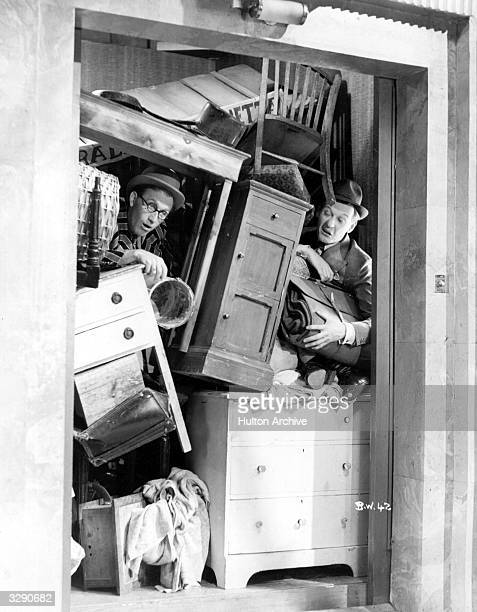 Comic partners Arthur Askey and Richard Murdoch star in 'Band Wagon' directed by Marcel Varnel for Gainsborough