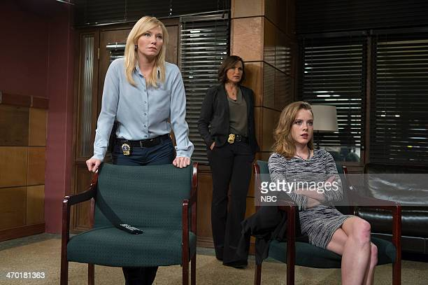 UNIT Comic Perversion Episode 1515 Pictured Kelli Giddish as Det Amanda Rollins Mariska Hargitay as Sgt Olivia Benson Laura Slade Wiggins as Carly...