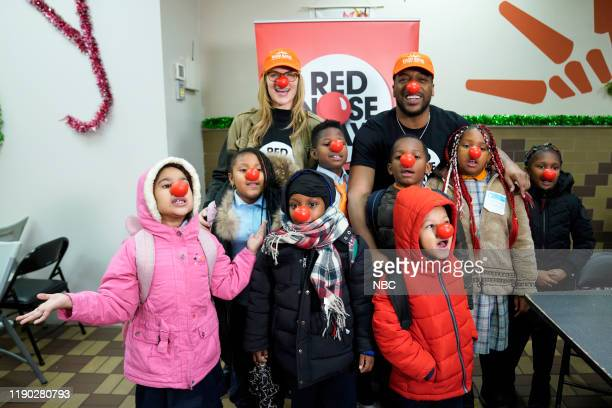 SPECIAL Comic Relief USA and New Amsterdam at Food Bank For New York City on Tuesday December 17 2019 celebrate Red Nose Day raising $200 million to...