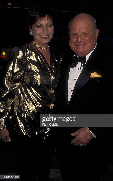 Comic Rickles and wife Barbara Sklar attend 88th Birthday Party for Milton Berle on July 12 1996 at the Alfred Dunhill Book Store in Beverly Hills...