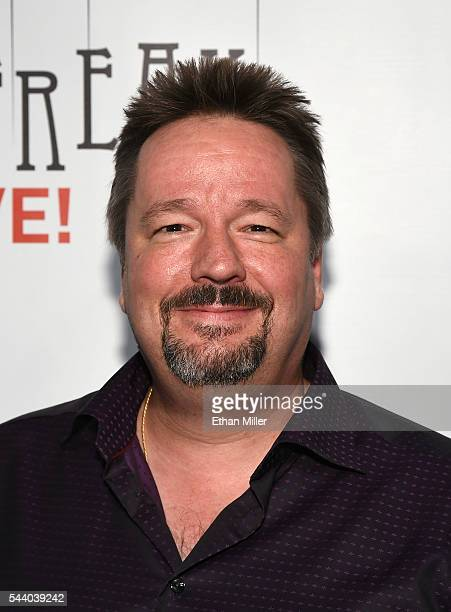 Comic ventriloquist and impressionist Terry Fator attends the world premiere of 'Criss Angel Mindfreak Live' at the Luxor Hotel and Casino on June 30...