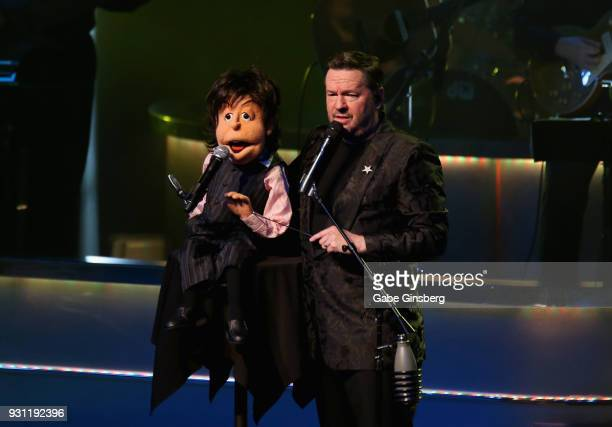 Comic ventriloquist and impressionist Terry Fator performs with his new Sir Paul McCartney puppet during his show at The Mirage Hotel Casino on March...
