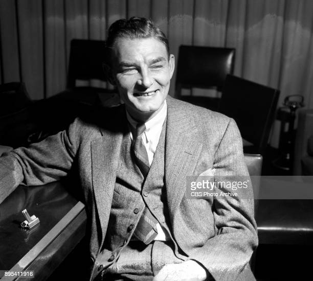 Humorist Abe Burrows He helps write gags and lines for the radio program Duffys Tavern New York NY Image dated February 1 1941