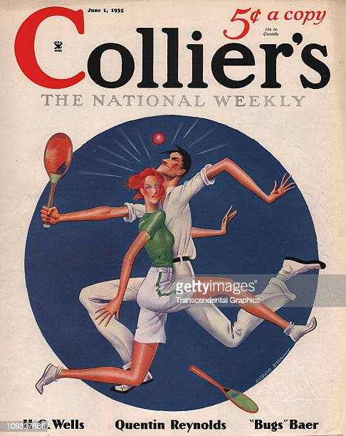 NEW YORK JUNE 1 A comical tennis illustration is on the cover of Collier's magazine from New York the June 1st issue