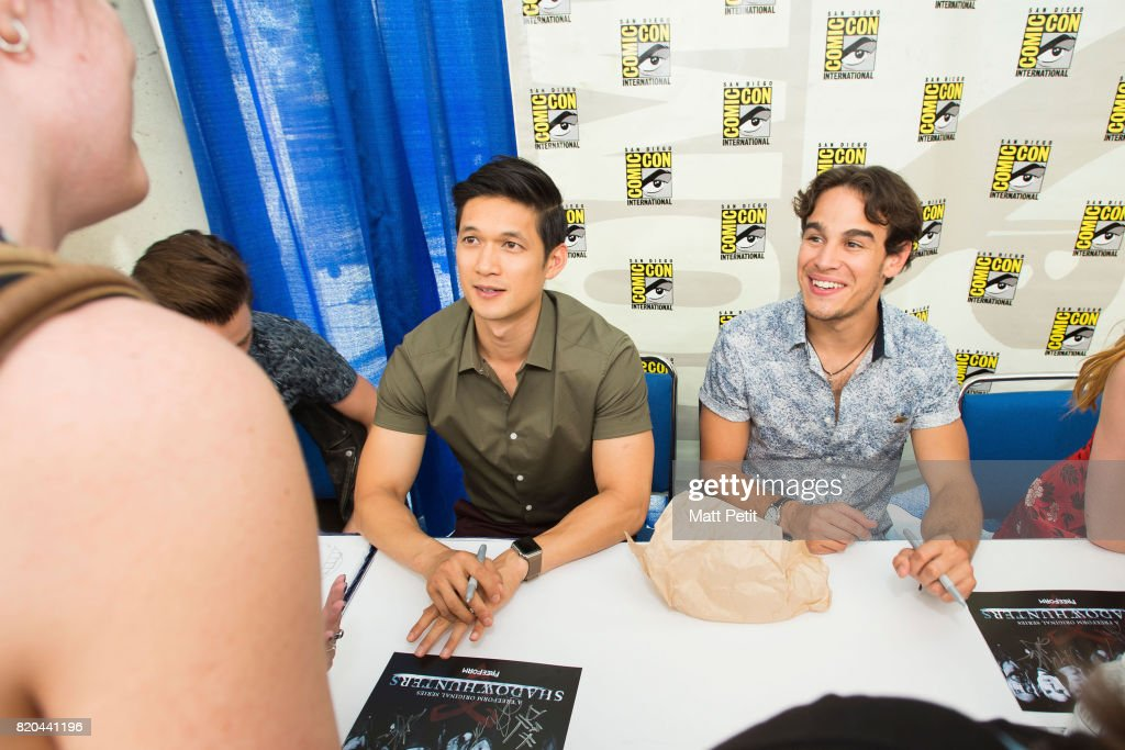 SHADOWHUNTERS - Comic-Con - Cast and executive producers from Freeform's hit original series 'Shadowhunters' and 'Stitchers' were featured at this year's San Diego Comic Con with panels, autograph signings and press rooms. ROSENDE