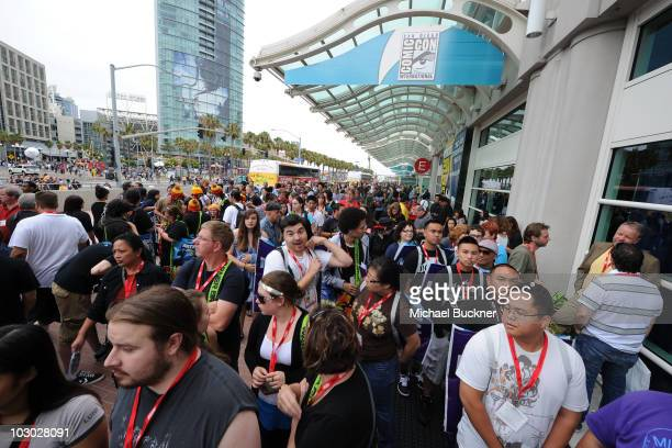 Comic-Con fans attend the Comic-Con 2010 preview night at San Diego Convention Center on July 21, 2010 in San Diego, California.