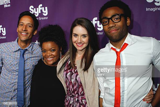 Comic-Con -- Pictured: The cast of 'Community' danny Pudi, Yvette Nicole Brown, Alison Brie, Donald Glover arrive at the Syfy party at the 2010...