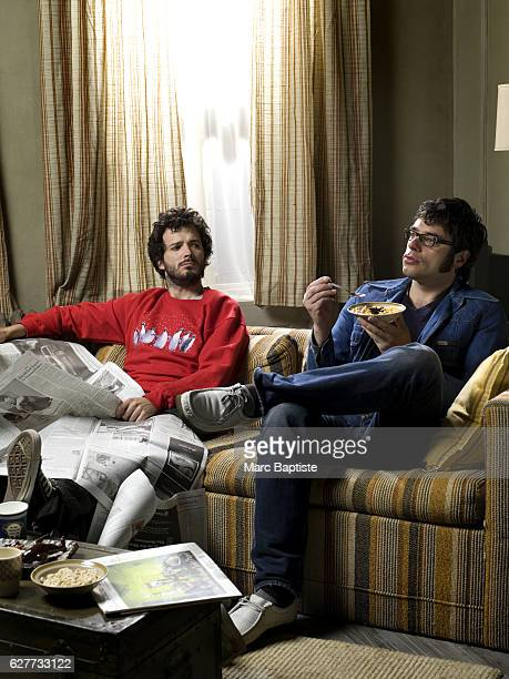 Comics Bret McKenzie and Jemaine Clement of Flight of the Conchords