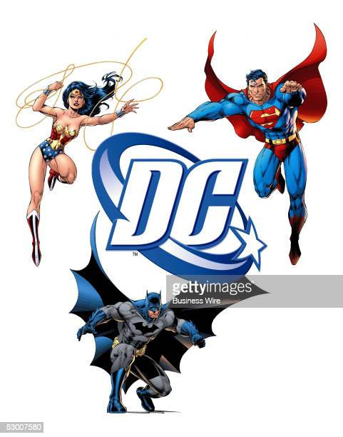 Comics' new corporate logo featuring the company's iconic super heroes Batman Wonder Woman and Superman will appear on comic books graphic novels and...