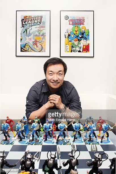 Comics Publisher and Artist Jim Lee is photographed at the DC Comics office for KoreAM Magazine on November 10 2011 in Los Angeles California
