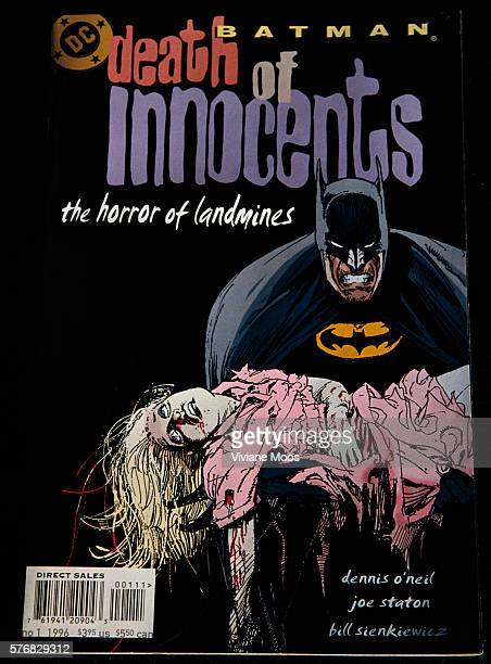 A DC comics special antiviolence edition for children in Bosnia to educate them about the dangers of landmines