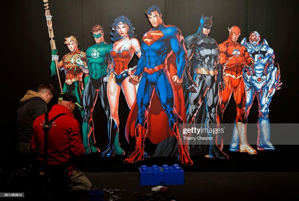 'The Art Of The Brick: DC Super Heroes' Exhibition At Parc De La Villette : News Photo