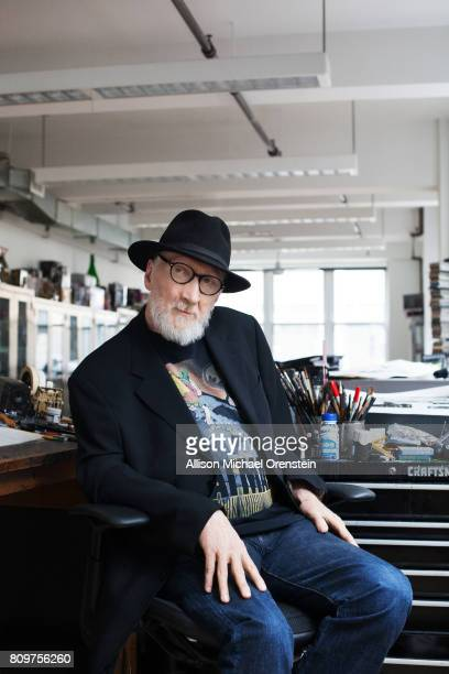 Comics writer Frank Miller is photographed for The Hollywood Reporter on February 23 2016 in his office in New York City