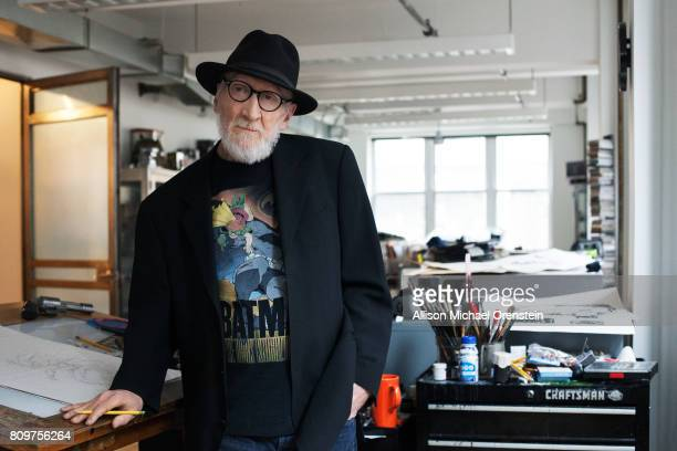 Comics writer Frank Miller is photographed for The Hollywood Reporter on February 23 2016 in his office in New York City PUBLISHED IMAGE