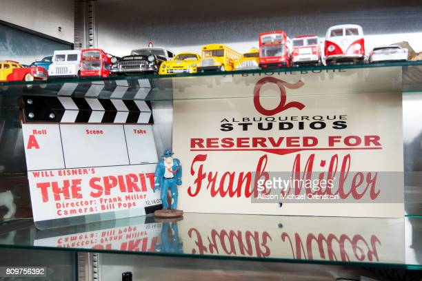 Comics writer Frank Miller's office is photographed for The Hollywood Reporter on February 23 2016 in New York City 'The Spirit' marker PUBLISHED...