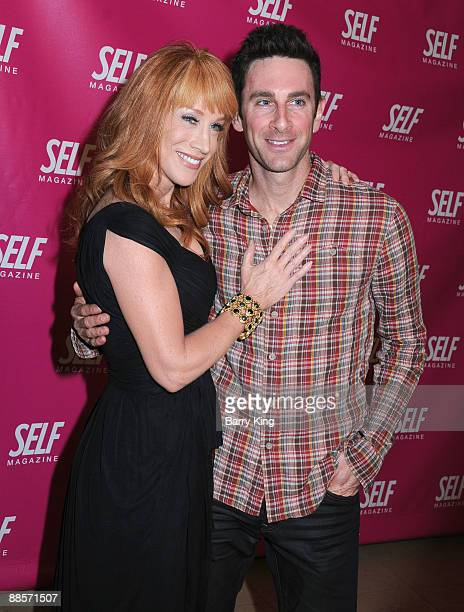 Comic/TV personality Kathy Griffin poses with guest at the SELF Magazine Celebration of the July 2009 LA Issue held at Sunset Towers on June 18 2009...