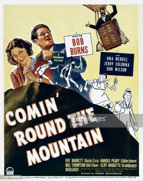 Comin' Round The Mountain poster from left Una Merkel Bob Burns Jerry Colonna on window card 1940