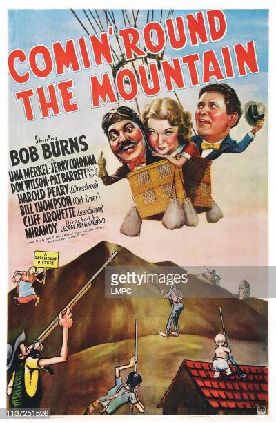 Comin' Round The Mountain poster US poster art from left Jerry Colonna Una Merkel Bob Burns 1940