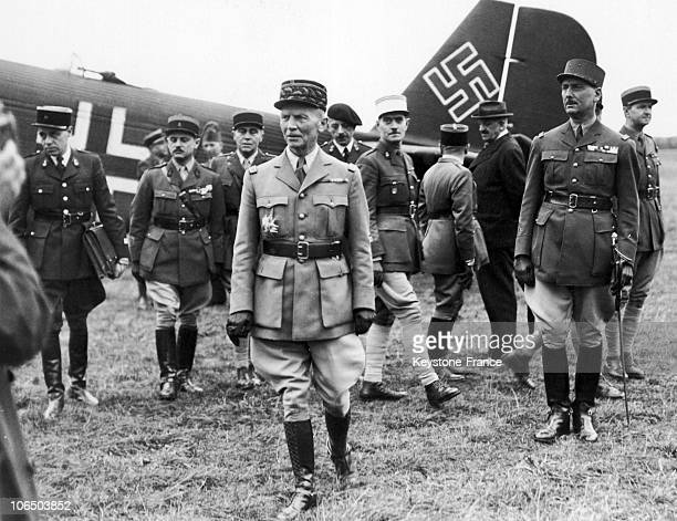Coming From Wiesbaden New Minister For National Defense Of The Vichy Government Gets To The Free Zone Under Tight German Control