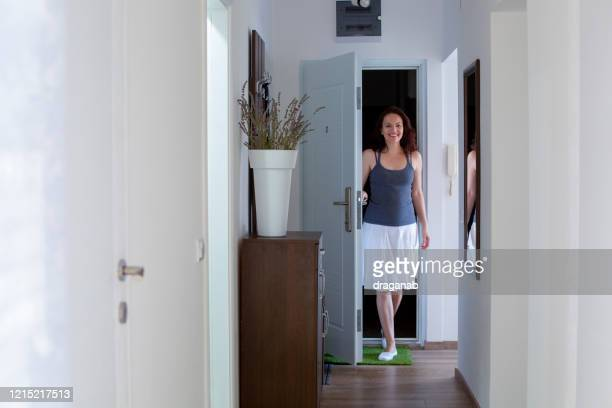 coming home - entering stock pictures, royalty-free photos & images