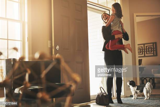 coming home to her loving arms is worth it - returning stock pictures, royalty-free photos & images