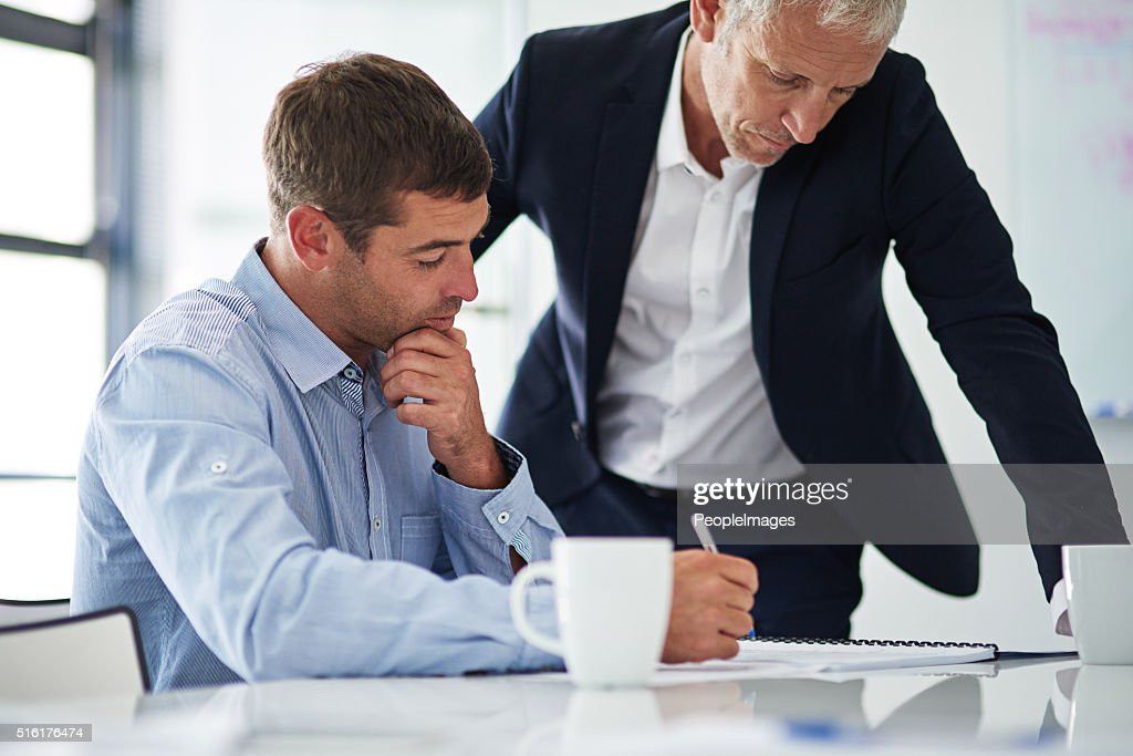 Coming up with a plan of action : Stock Photo