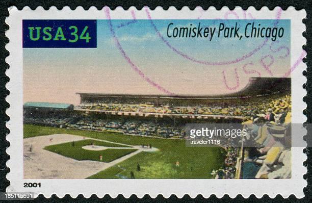 parque comiskey stamp - marca postal - fotografias e filmes do acervo