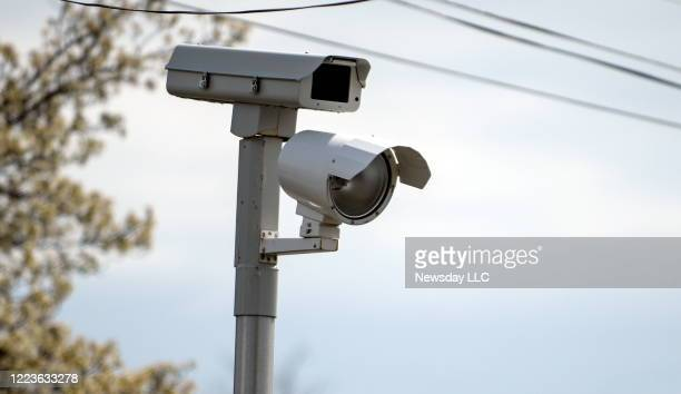 A red light camera at Indian Head Rd and Jericho Tpke in Commack New York on April 11 2016