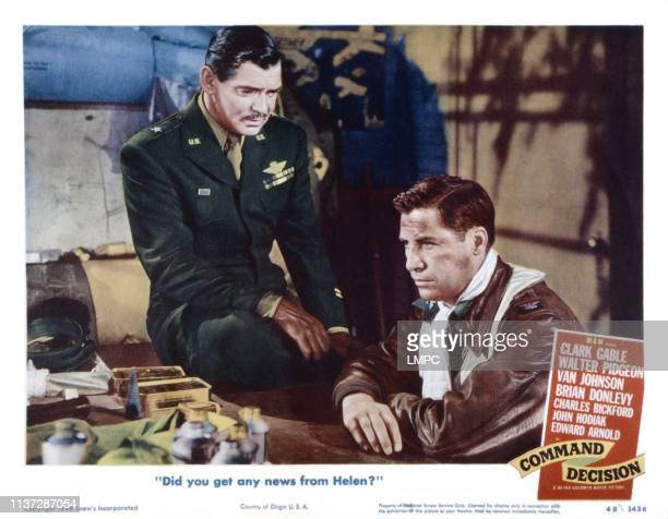 Command Decision lobbycard from left Clark Gable John Hodiak 1948