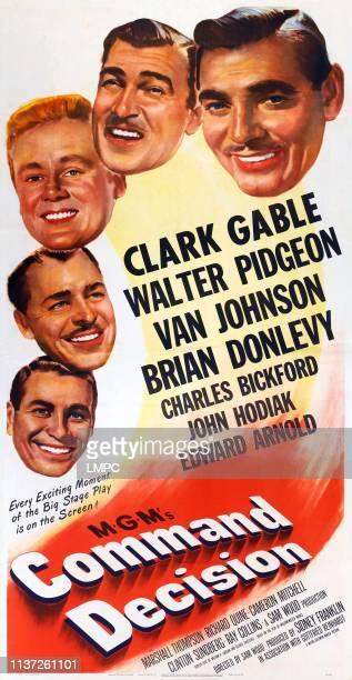 Command Decision poster from botom left John Hodiak Brian Donlevy Van Johnson Walter Pidgeon Clark Gable on poster art 1949