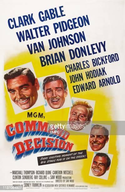 Command Decision poster US poster from left Clark Gable Walter Pidgeon Van Johnson Brian Donlevy John Hodiak 1949