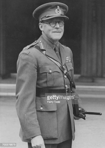 Commandant General of the RAF Regiment Claude Liardet at a Buckingham Palace investiture where he was knighted with the Order of the Bath London 12th...
