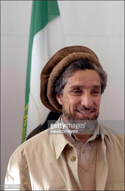 Commandant Massoud At The European Parliament On May 4Th 2001 In Strasbourg France